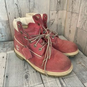 Timberland - pink classic boots
